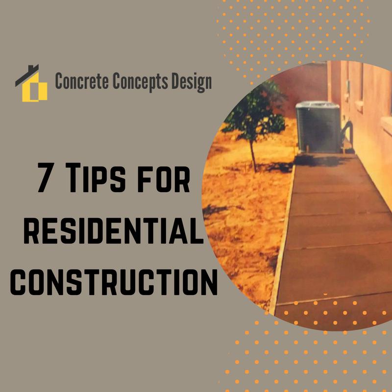 7 residential construction tips for desert hot springs for Construction tips