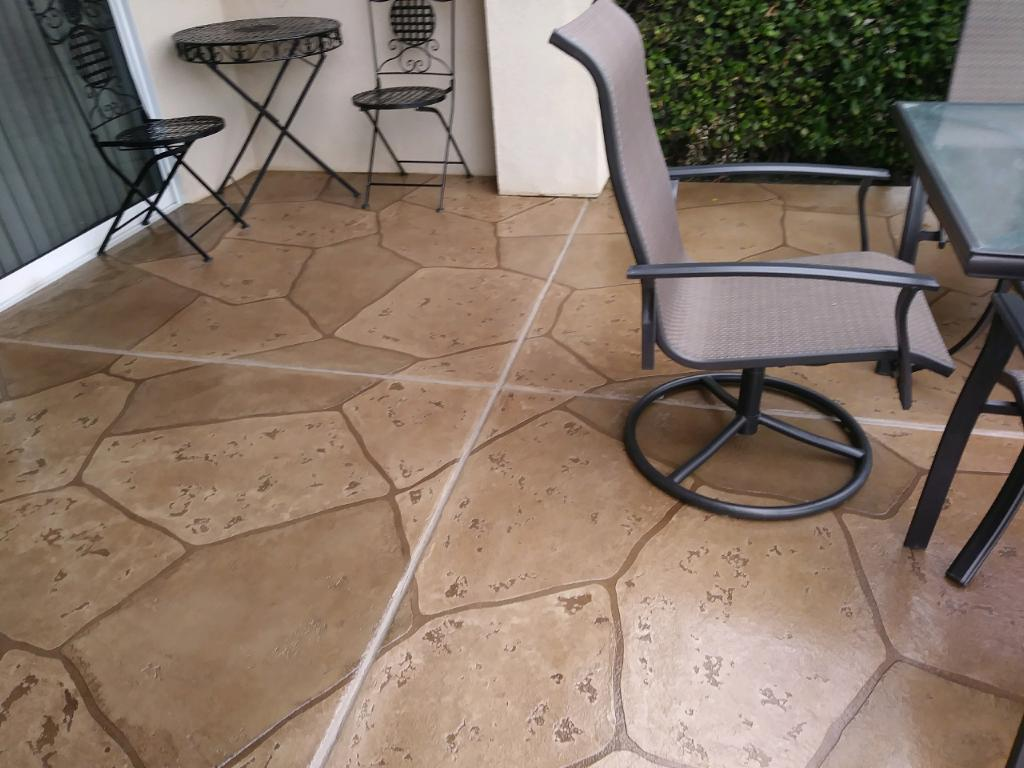 Flagstone Overlay Patio
