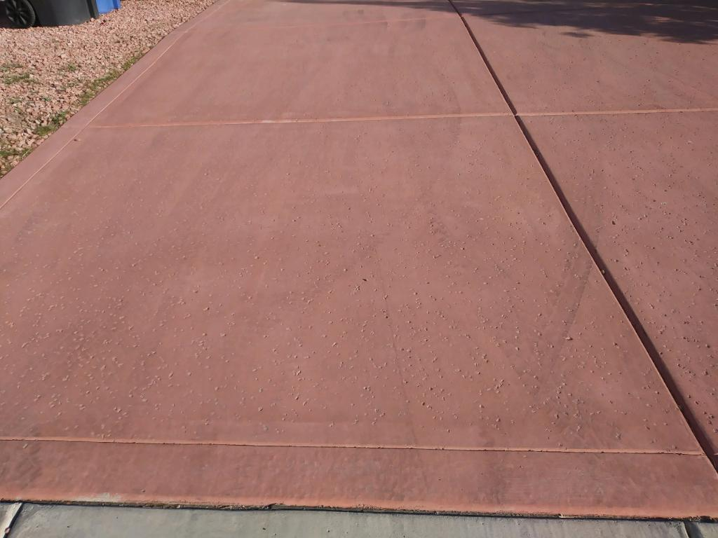 Colored concrete salt finish
